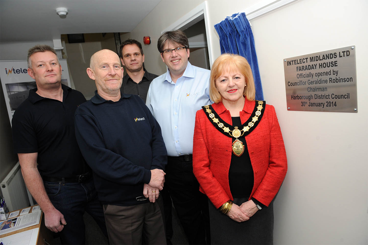 Councillor Geraldine Robinson opens Intelect Midlands Farraday House
